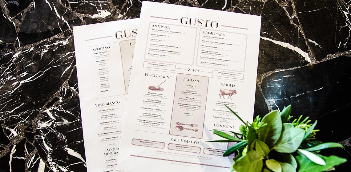 ENVY Project - Korporativni identitet za restoran GUSTO i JFK Bar
