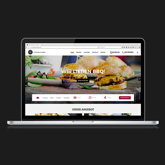 ENVY Project - Lofthouse Catering homepage