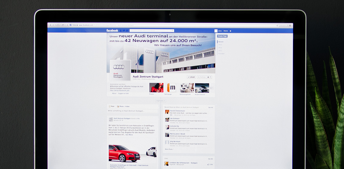 ENVY Project - Facebook profili za Audijeve prodavaonice - Image 1